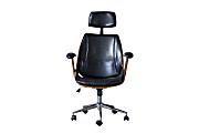 Baxton Studio Julius High-Back Office Chair, Black/Walnut