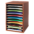 "Safco® Compact Adjustable Shelf Organizer, 16"" x 10 13/16"" x 12"", Cherry"