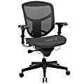 WorkPro® Quantum 9000 Series Ergonomic Mesh/Mesh Mid-Back Chair, Black/Black