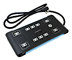 GE UltraPro 10-Outlet Surge Protector, 4' Cord, Black, 34462