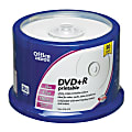 Office Depot® Brand DVD+R Recordable Inkjet-Printable Media Spindle, 4.7GB/120 Minutes, Pack Of 50