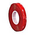 """3M® 4910 VHB™ Tape, 1"""" x 5 Yd., Clear"""