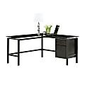 """Realspace® Lake Point 56""""W L-Shaped Desk, Black"""