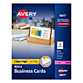 """Avery® Laser Clean-Edge® Two-Side Printable Business Cards, 2"""" x 3 1/2"""", White, Pack of 400"""