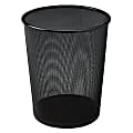 United Receptacle 30% Recycled Steel Mesh Round Wastebasket, 5 Gallons, Black