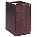 "Alera® Valencia 16""W Lateral 2-Box/1-File Drawer Pedestal Cabinet, Mahogany"