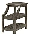 "Powell Dutton 2-Shelf Side Table, 23""H x 14""W x 24""D, Gray"