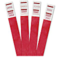 """Advantus 500-Pack Tyvek Colored Wrist Bands - 3/4"""" Width x 10"""" Length - Rectangle - Red - Tyvek - 500 / Pack"""