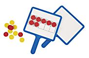 Office Depot® Brand Magnetic Dry-Erase 10-Frame Answer Boards, Pre-K, Set Of 4 Boards