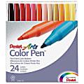 Pentel® Color Pens™, Set Of 24 Colors