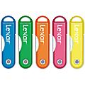 Lexar® JumpDrive® TwistTurn USB 2.0 Flash Drive, 8GB, Assorted Neon Colors (No Color Choice)