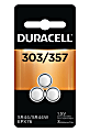 Duracell® Silver Oxide 303/357 Button Batteries, Pack Of 3