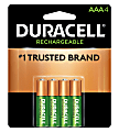 Duracell® NiMH Rechargeable AAA Batteries, Pack Of 4