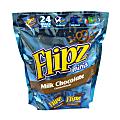 Flipz Mini Chocolate Covered Pretzels Snack Bags, 24 Count