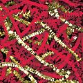 Office Depot® Brand PreciousMetal™ Crinkle Paper Blend, Gold/Red Metallic, 10-Lb Case