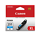 Canon CLI-251XL High-Yield Cyan Ink Tank (CLI-251C XL)