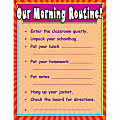 """Scholastic Practice Chart, Our Morning Routine, 17"""" x 22"""""""