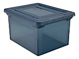 """Office Depot® Brand File Tote, 35 Qt, Letter/Legal Size, 10-13/16""""H x 13-5/8""""W x 18""""D, Copen Blue"""