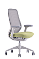 WorkPro® 6000 Series Multifunction Ergonomic Mesh/Fabric High-Back Executive Chair, White Frame/Lime Seat