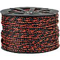 "Office Depot® Brand Twisted Polypropylene Rope, 2,450 Lb, 3/8"" x 600', Black/Orange"