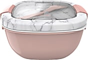 """Bentgo Salad Lunch Container, 4"""" x 7-1/4"""", Blush Marble"""