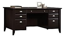 "Sauder® Shoal Creek 66""W Executive Desk, Jamocha Wood"