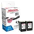 Office Depot® Brand OD221-2 Remanufactured Black Ink Cartridge Replacement For HP 21, Pack Of 2