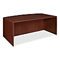 """Lorell® Essentials Series Bow-Front Shell Desk, 72""""W, Mahogany"""