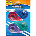 BIC® Wite-Out® Correction Tape, Pack Of 4 Correction Tape Dispensers