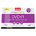 Maxell® DVD+R Recordable Media Spindle, 4.7GB/120 Minutes, Pack Of 50