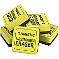 """The Pencil Grip Magnetic Whiteboard Eraser Class Pack - 2"""" Width x 2"""" Length - Durable, Soft, Magnetic - Yellow - 24 / Pack"""