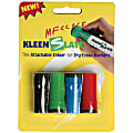 KleenSlate® Eraser Caps For Small Dry-Erase Markers, Assorted, Pack Of 4