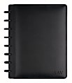 """TUL™ Personalized Custom Note-Taking System Discbound Junior-Size Notebook, 8 1/2"""" x 5 1/2"""", Black"""