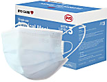BYD Care Level 3 Surgical Masks, Adult, One Size, Blue, Box Of 50 Masks