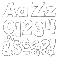 """TREND Ready Letters®, Friendly Uppercase/Lowercase Combo, 4"""", White, Pre-K - Grade 12, Pack Of 225"""