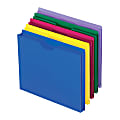 Pendaflex® Poly Expanding File Jackets, Letter Size, Assorted Colors, Pack Of 10
