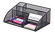 Brenton Studio® Black Mesh Angled Desk Organizer