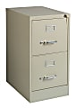 """WorkPro® 22""""D Vertical 2-Drawer File Cabinet, Metal, Putty"""