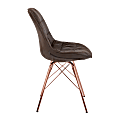 Office Star™ Avenue Six Langdon Chair, Saddle/Rose Gold