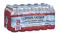 Crystal Geyser Spring Water, 0.5 Liters, Pack Of 24