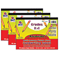 """Pacon® Multi-Sensory Raised Ruled Tablets, 10-1/2"""" x 8"""", 40 Sheets, White, Pack Of 3 Tablets"""
