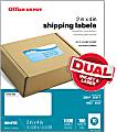 "Office Depot® Brand Inkjet/Laser Shipping Labels, White, 2"" x 4"", Pack Of 1,000"