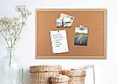 """U Brands Cork Bulletin Board, 72"""" x 48"""", Birch Finish Frame"""