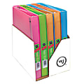 """Wilson Jones® Flex Poly Fashion 3-Ring Binder, 1"""" Round Rings, Assorted Colors"""