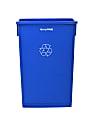 Alpine Slim Recycle Bin, 23 Gallon, Blue