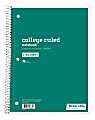 """Just Basics® Spiral Notebook, 8"""" x 10-1/2"""", College Ruled, 70 Sheets, Green"""