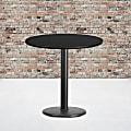 "Flash Furniture Round Hospitality Table, 31-1/8""H x 30""W x 30""D, Black"