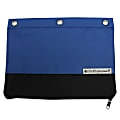 """U Style 3-Ring Pencil Pouch With Microban® Antimicrobial Protection, 7 1/2"""" x 9 3/4"""", Blue/Black"""