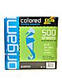 "Global Art Folia Origami Folding Squares, 8"" x 8"", Assorted Colors, 500 Sheets"