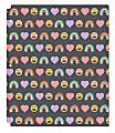 "Office Depot® Brand Fashion 2-Pocket Poly Folder, 8-1/2"" x 11"", Hearts & Rainbows"